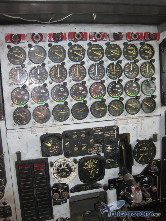 Boeing B-52 Stratofortress Cockpit Engine Control Panel