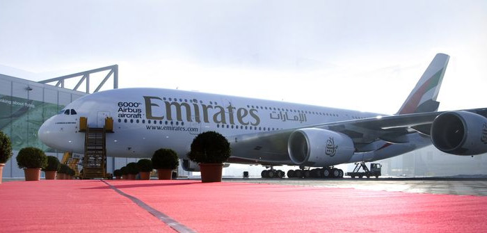 6000th Airbus Aircraft - 25th Airbus A380