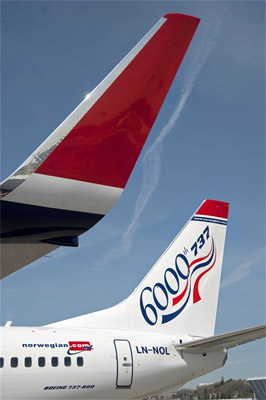 6000th Boeing 737 - Norwegian Air Shuttle ASA (ILFC)