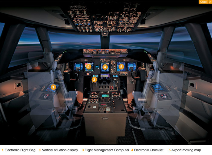 Boeing 747-8 Cockpit