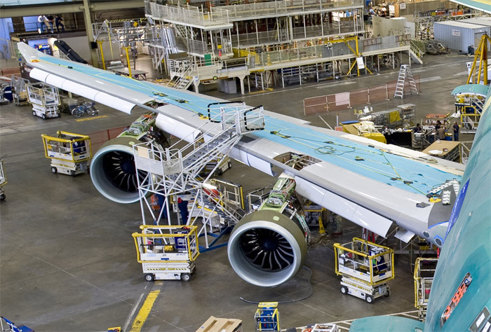 Boeing 747-8 Freighter - GEnx-2B Engines Installed on Wing