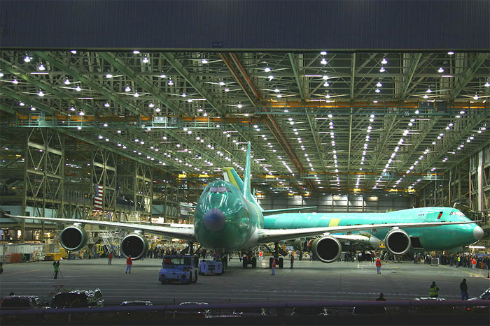 Boeing 747-8 Freighter Roll Out of Factory