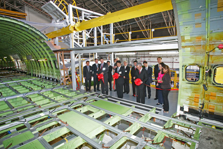 Boeing 767-300 BCF Door Cutting Completed