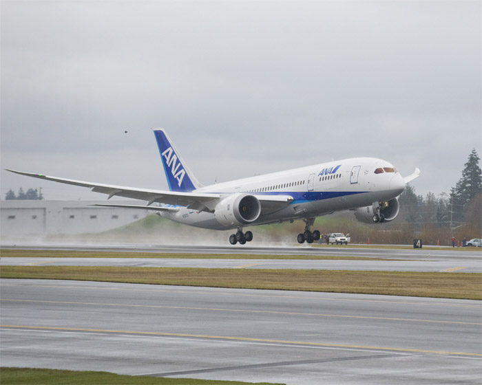 Boeing 787 Dreamliner ZA002 First Flight ANA (All Nippon Airways)