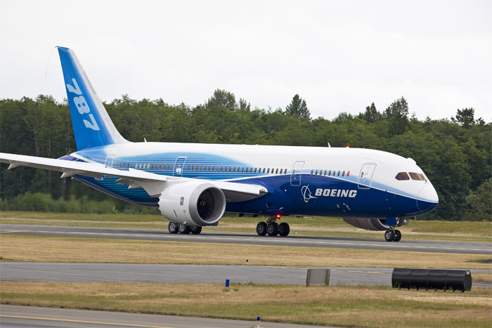 Boeing 787 Dreamliner on Runway