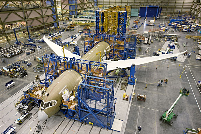 Boeing 787 Dreamliner ZA006 Final Assembly (designated for flight test)