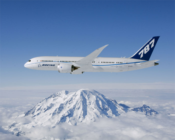Boeing 787 Dreamliner In Flight
