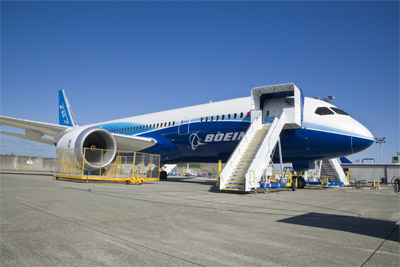 Boeing 787 Test Plane on Tarmac