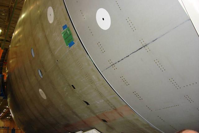 787 Fuselage Gaps
