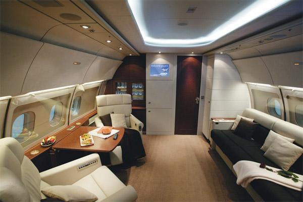 Airbus A318 Elite Cabin Interior