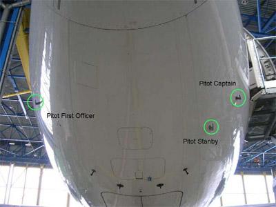 Airbus A330 Pitot Probes