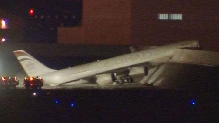 Etihad Airbus A340-600 Ground Test Accident