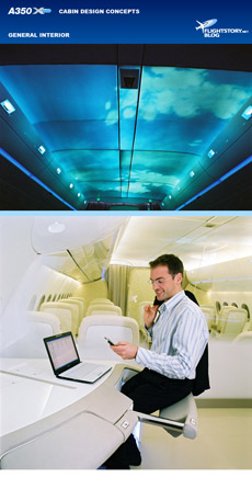 Airbus A350 XWB Interior Design Concepts
