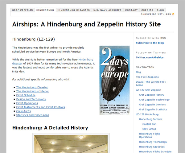 Airships.net History of the Hindenburg