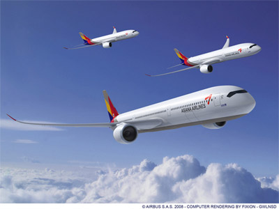 Asiana Airlines Airbus A350 XWB