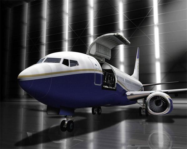Boeing BBJ Convertible Cargo Door