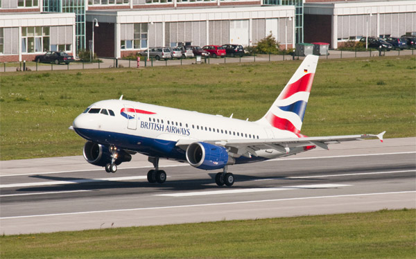 British Airways Airbus A318 with Steep Approach capability