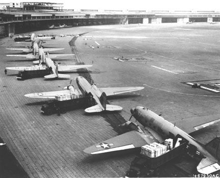 Douglas DC-3s at Berlin Tempelhof Airport 1948