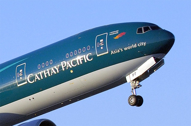 The airplane, the sixth of 30 777-300ERs for delivery to Cathay Pacific,