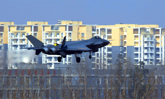 Chengdu J-20 First Flight - Chinese 5th Generation Stealth Jet Fighter