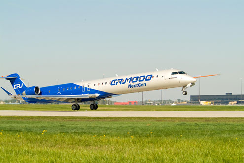 Bombardier CRJ1000 NextGen First Flight