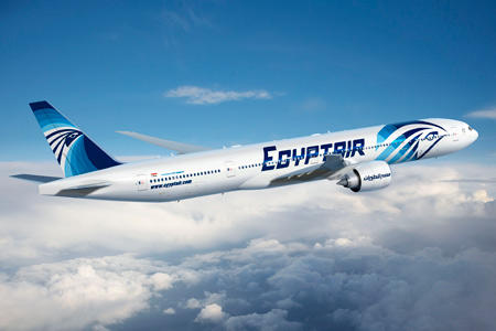 Egyptair Boeing 777-300ER with new livery