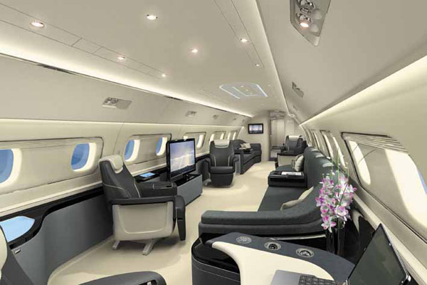 Embraer Lineage 1000 Luxury Cabin Interior