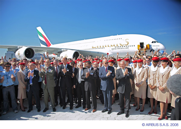 Emirates Airbus A380 Delivery