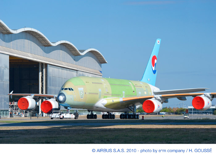 First Korean Air (KAL) Airbus A380