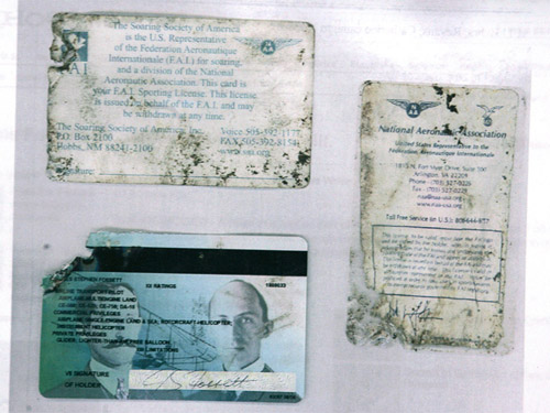 Photo - Found Fossett Items - FAA ID