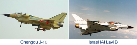 Comparison Chengdu J-10 and Israel IAI Lavi B