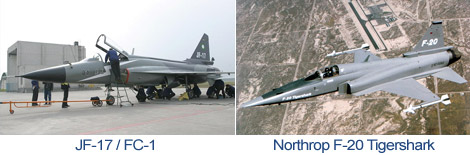 Comparison JF-17/FC-1 and Northrop F-20 Tigershark
