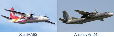 Comparison Xian MA60 and Antonov An-26