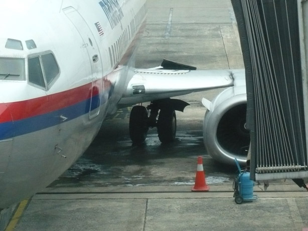 Malaysia Airlines Boeing 737 9M-MMR Gear Collapse Kuching