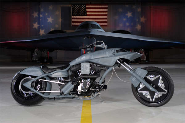 Northrop Grumman B-2 Stealth Bike built by Orange County Choppers