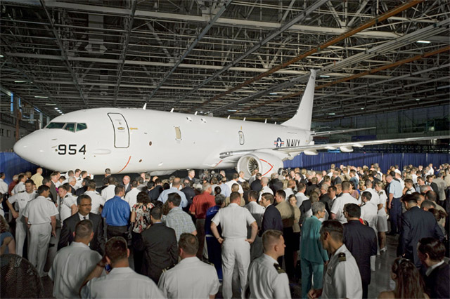 Boeing P-8A Poseidon Rolls Out (737-800)