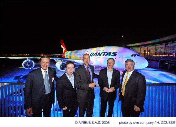 First Qantas Airbus A380