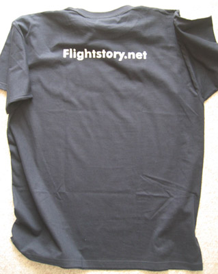 Flightstory.net T-Shirt with matte-silver color