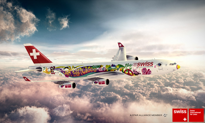 Swiss San Francisco Flower Power Peace Livery