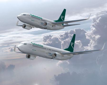 Turkmenistan Airlines Boeing 737
