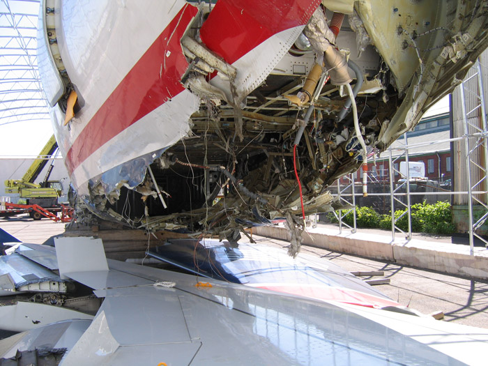 US Airways 1549 Airbus A320 Fuselage Impact Damage