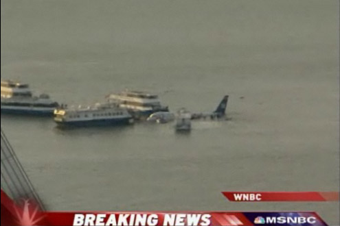 USAirways Flight 1549 in Hudson River New York