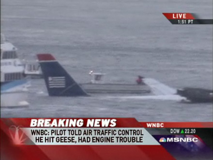 USAirways Flight 1549 Airbus A320 Hudson River Manhattan