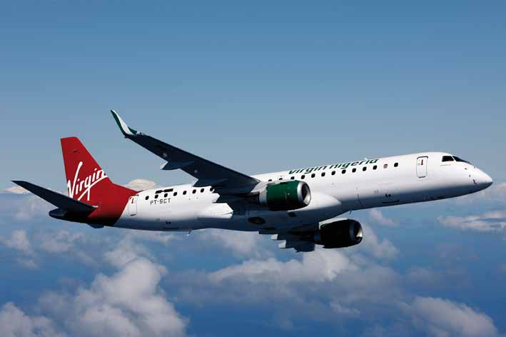 Virgin Nigeria Embraer 190
